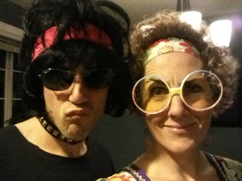 Glam Rock Star and Hippy